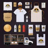 Fotografie Pizza Corporate Identity Template Design Set