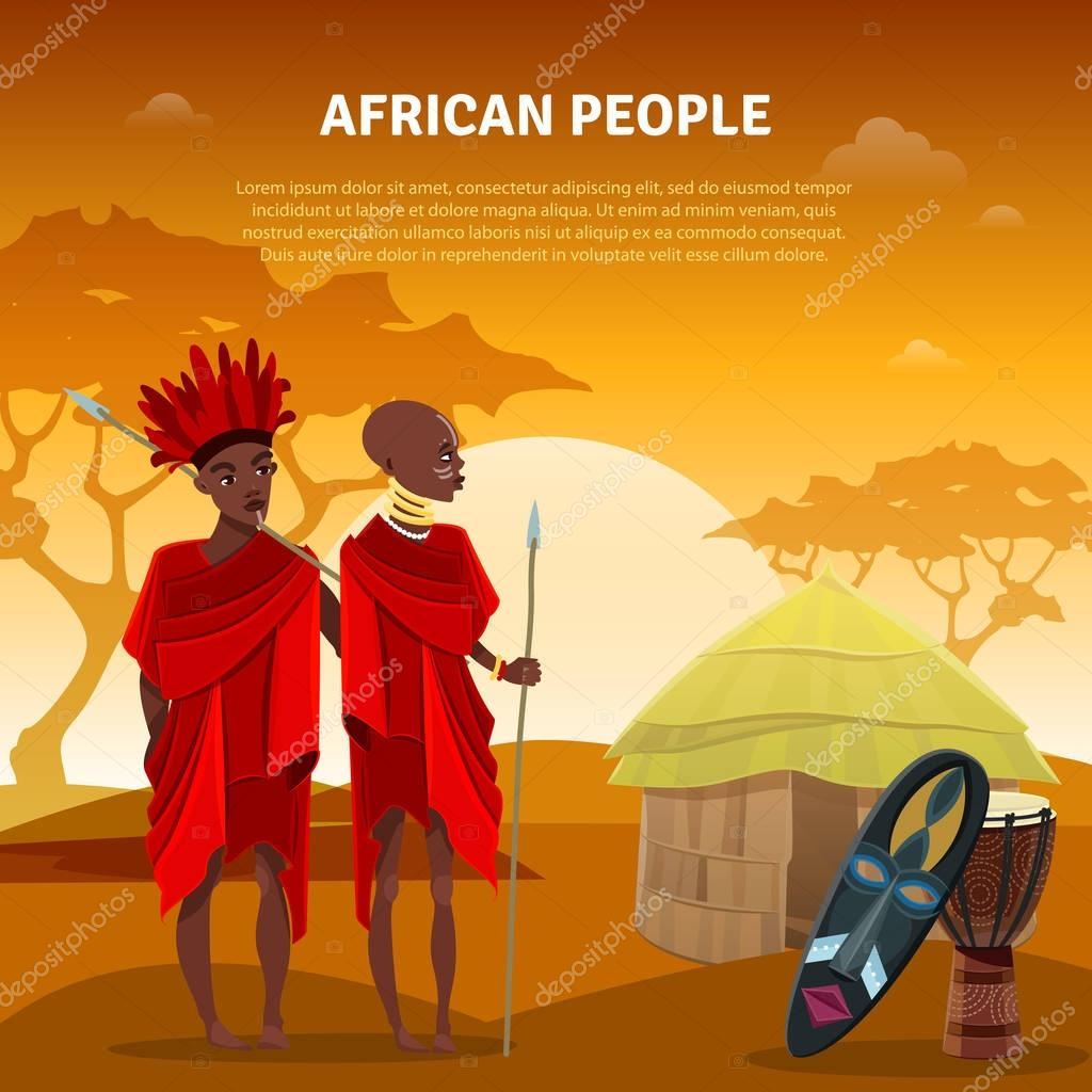 African People And Culture Flat Poster