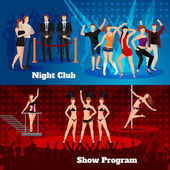 Fotografie Night Club Dance Show 2 flache Banner