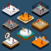 Photo Martial Arts Isometric People Composition