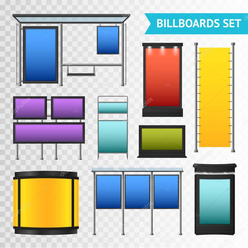 Colorful Promotional Billboards Set