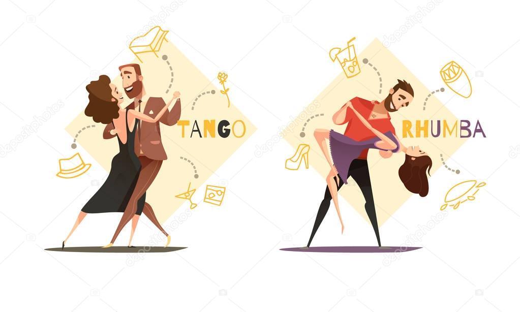 Dancing Pairs 2 Retro Cartoon Templates