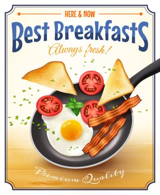 Restaurant Breakfast Advertisement Retro Poster