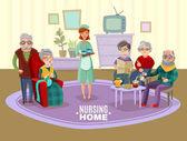 Fotografie Nursing Old People Illustration