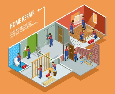 Home Repair Isometric Template