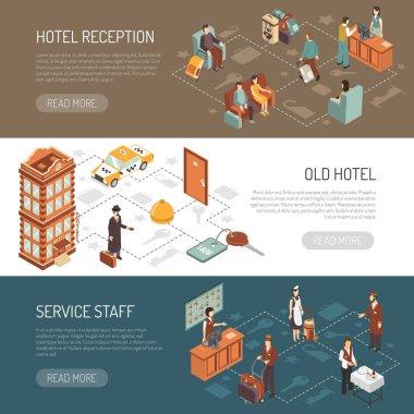 Hotel Isometric Horizontal Banners