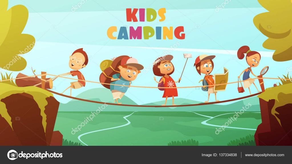 Campamento de niñ... Summer Camp Vector