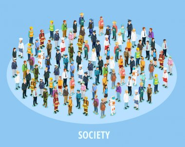 Professional Society Isometric Background