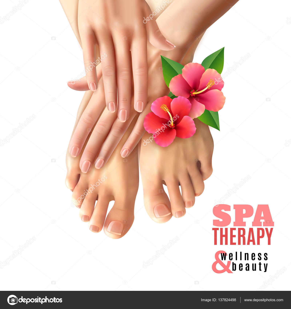 pedicure manicure spa salon poster stock vector macrovector 137824498. Black Bedroom Furniture Sets. Home Design Ideas