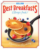 Fotografie Nejlepší snídaně Vintage reklamní plakát
