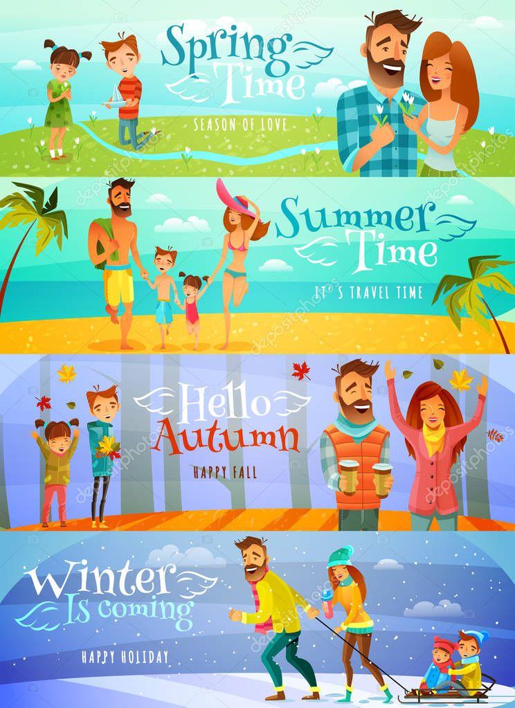 Season Family Banners