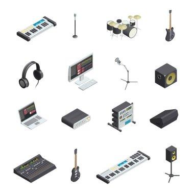 Music Studio Elements Set
