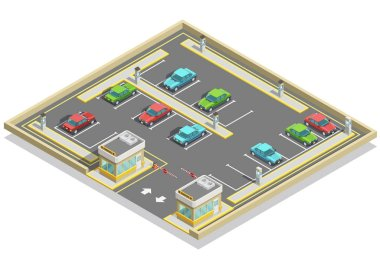 Parking Zone Isometric Location