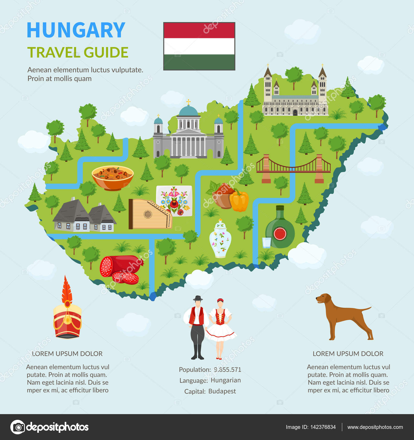 Infographic Map Of Hungary Stock Vector 169 Macrovector