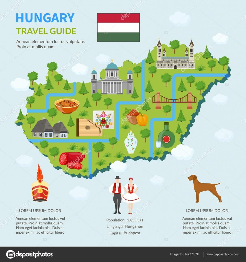 Karta Over Budapest Sevardheter.Infographic Karta Over Ungern Stock Vektor C Macrovector 142376834