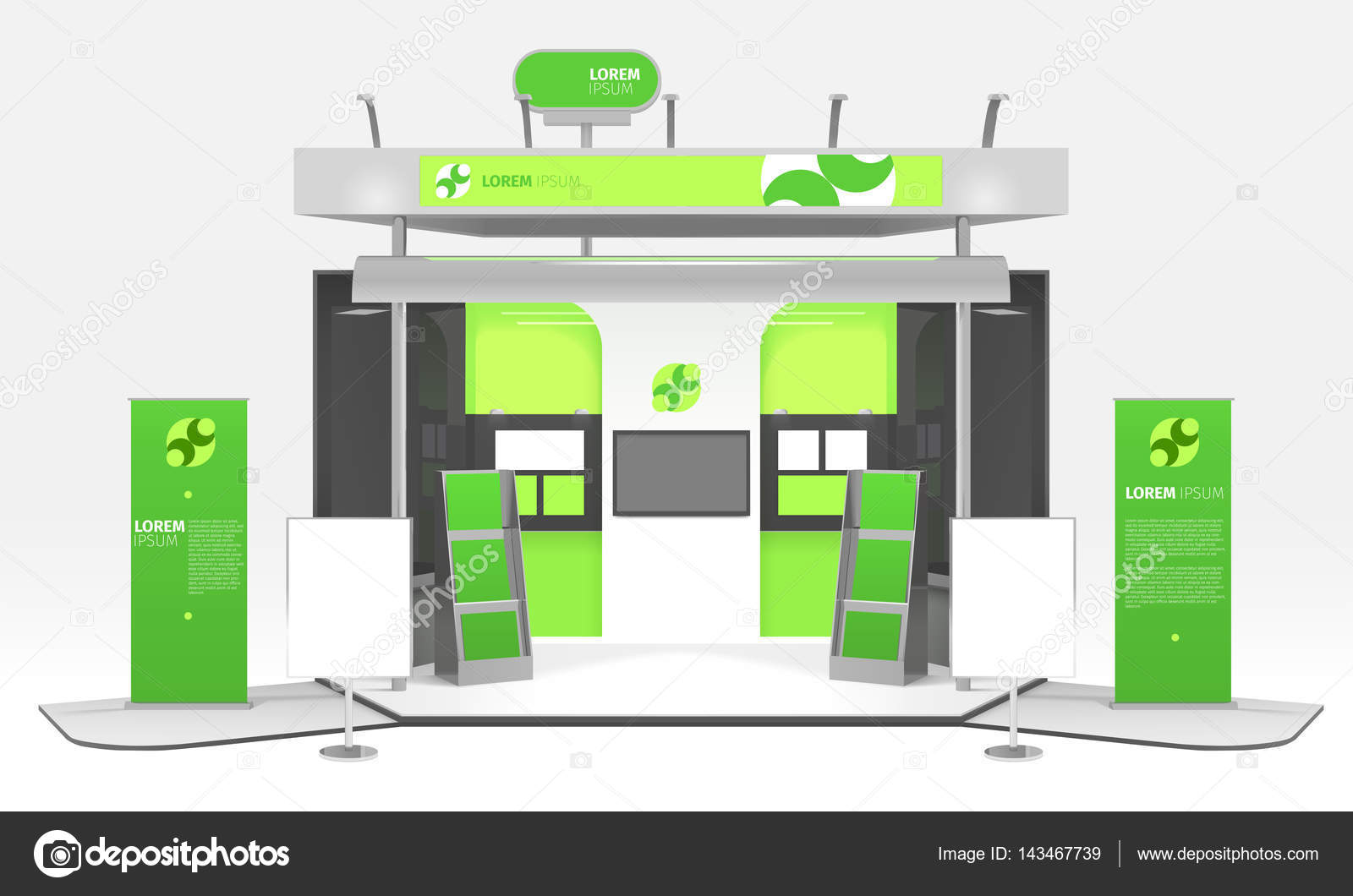 Exhibition Stand Design Illustrator : Green energy exhibition stand design — stock vector