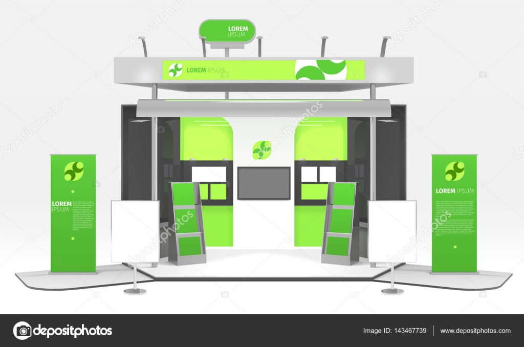 Exhibition Stand Design Vector : Green energy exhibition stand design — stock vector