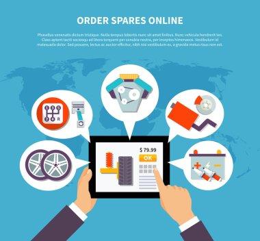 Order Spares Online Design Concept
