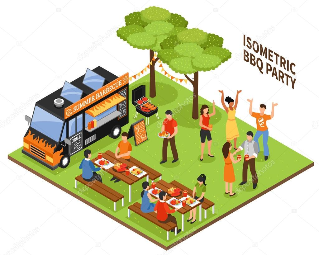 Isometric BBQ Party