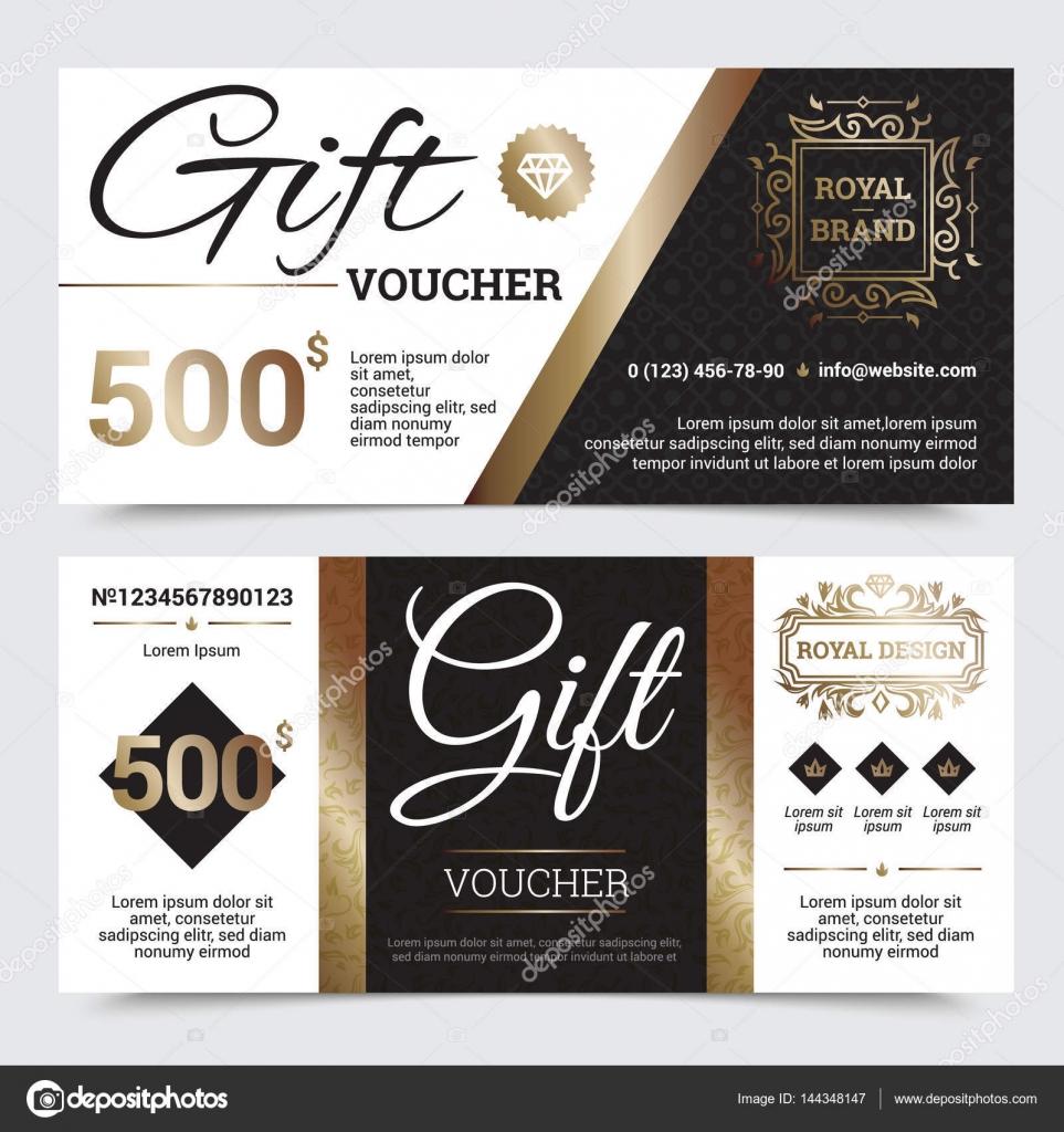 Geschenk Gutschein Royal Design — Stockvektor © macrovector #144348147