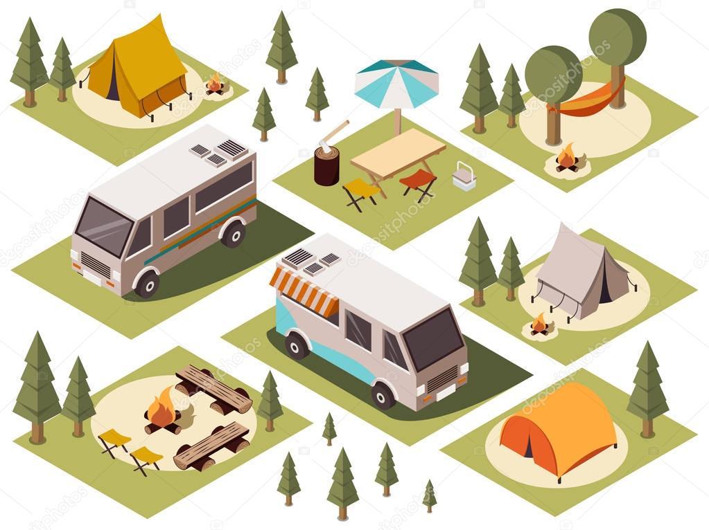 Camp Elements Isometric Set