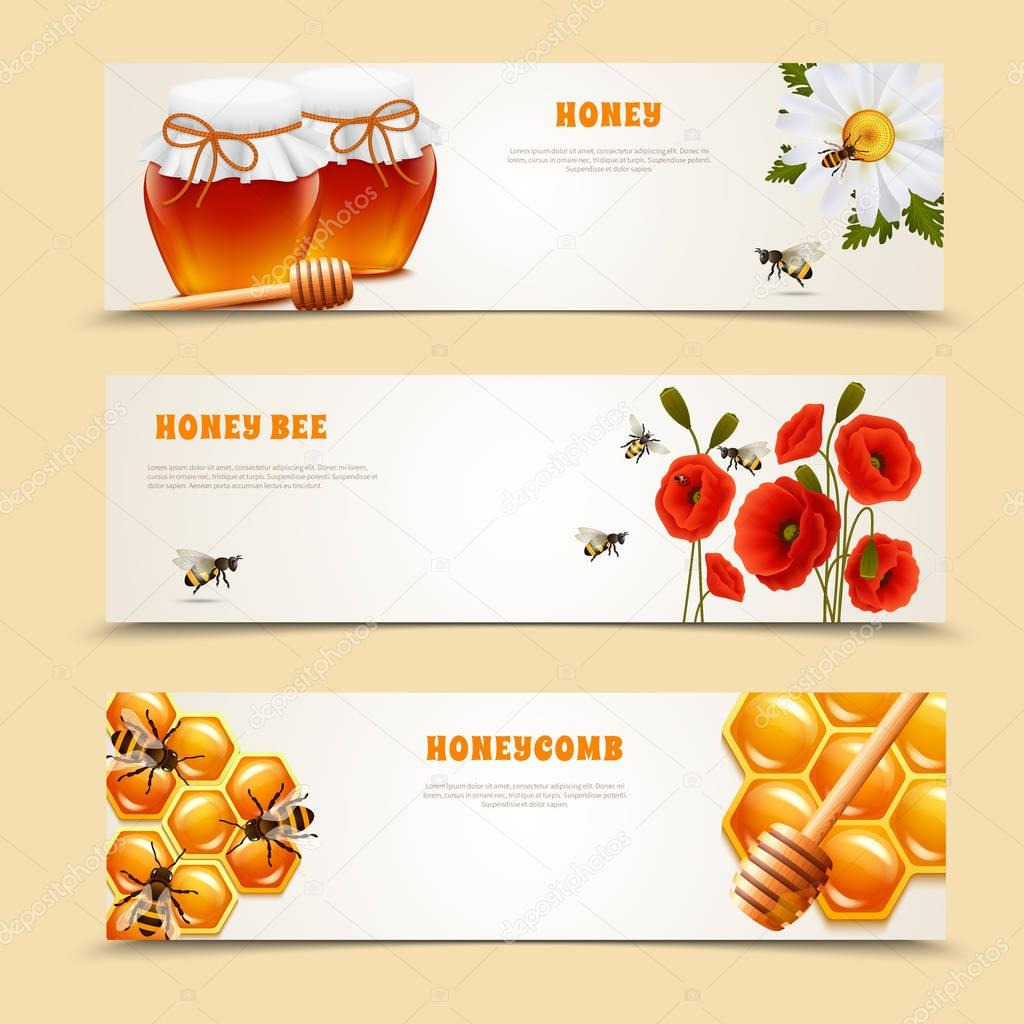 Three Honey Banner Set
