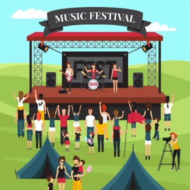 Outdoor Music Festival Composition