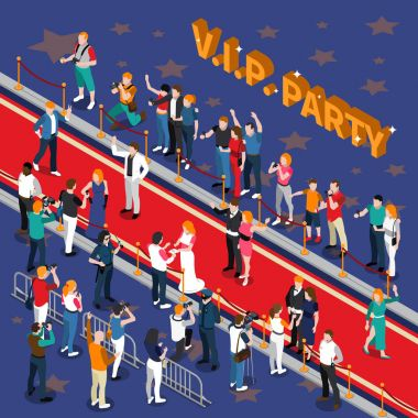 Vip Party Isometric Illustration