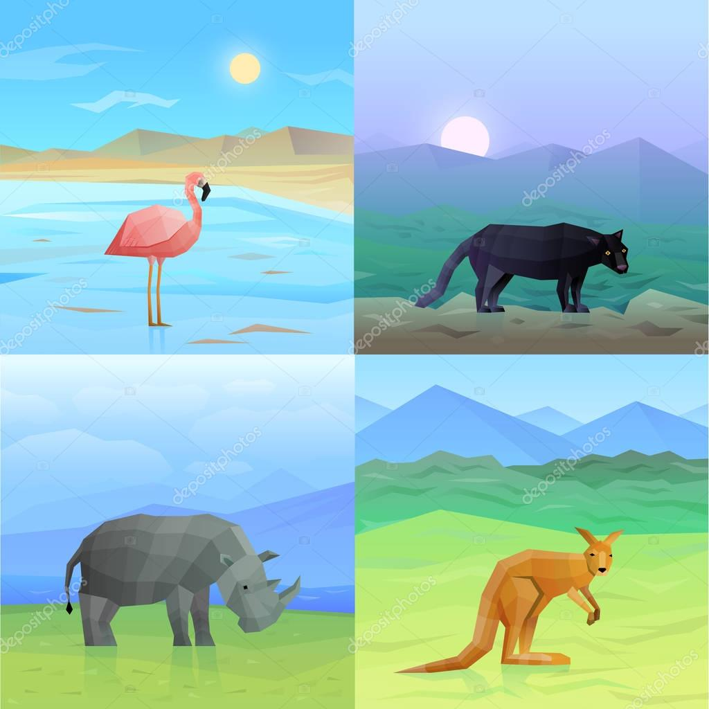Animals Background Set
