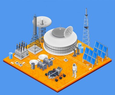 Space Station Isometric Concept