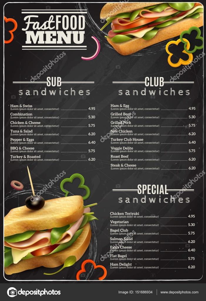 restauration rapide sandwichs menu affiche publicitaire image vectorielle macrovector 151686934. Black Bedroom Furniture Sets. Home Design Ideas