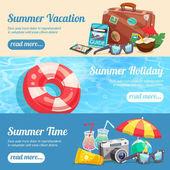 Letní dovolená bannery Set