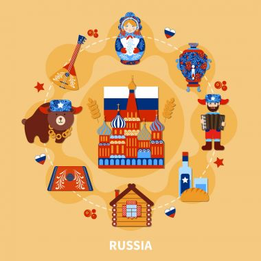 Travel To Russia Composition