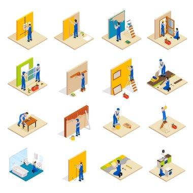 Home repair isometric set