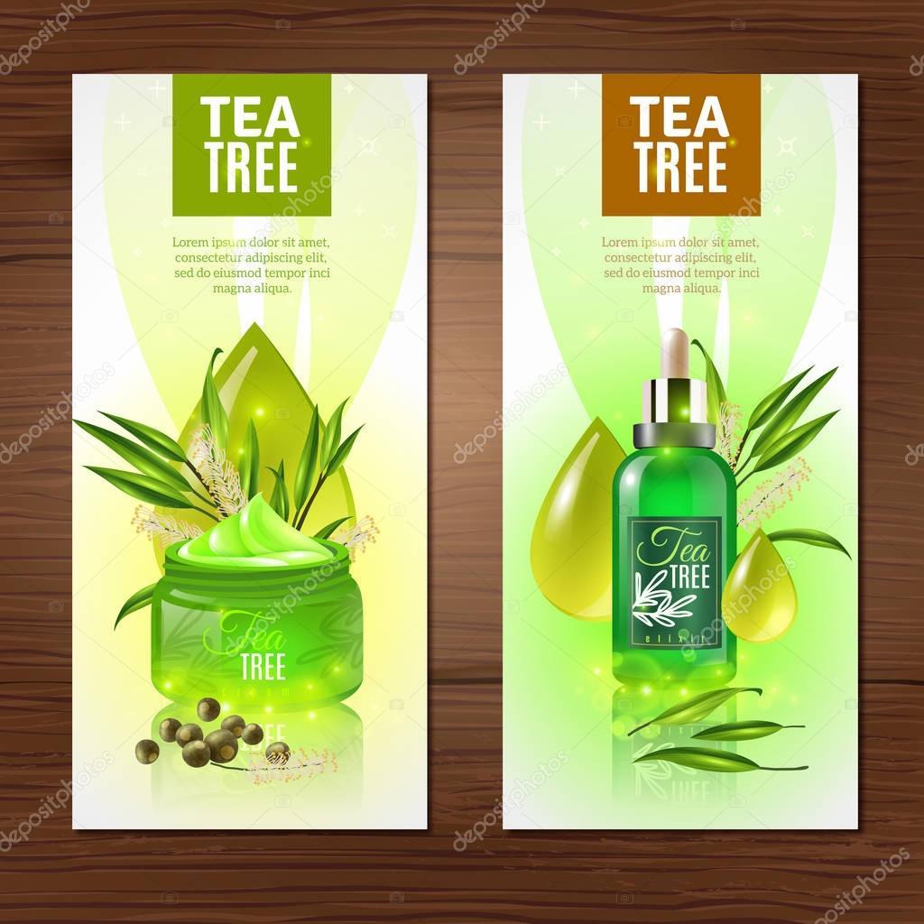 Tea Tree Vertical Banners