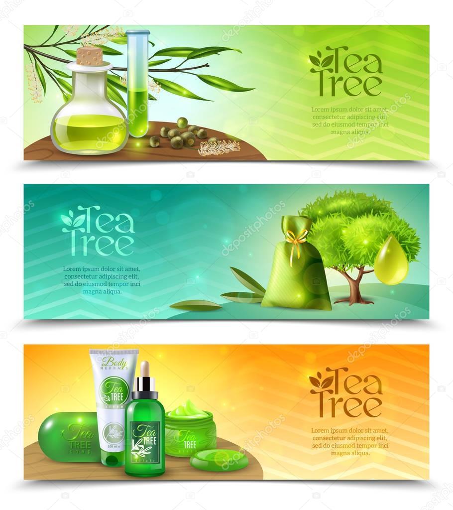 Tea Tree Horizontal Banners