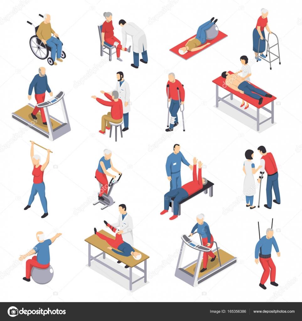 Conjunto De Iconos Isom Tricos De Fisioterapia Rehabilitaci N  # Muebles Fisioterapia