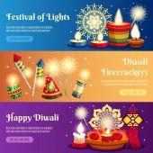 Diwali vízszintes bannerek