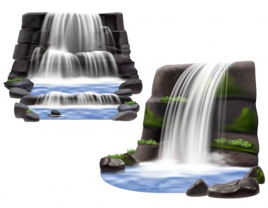 Waterfalls Realistic Compositions
