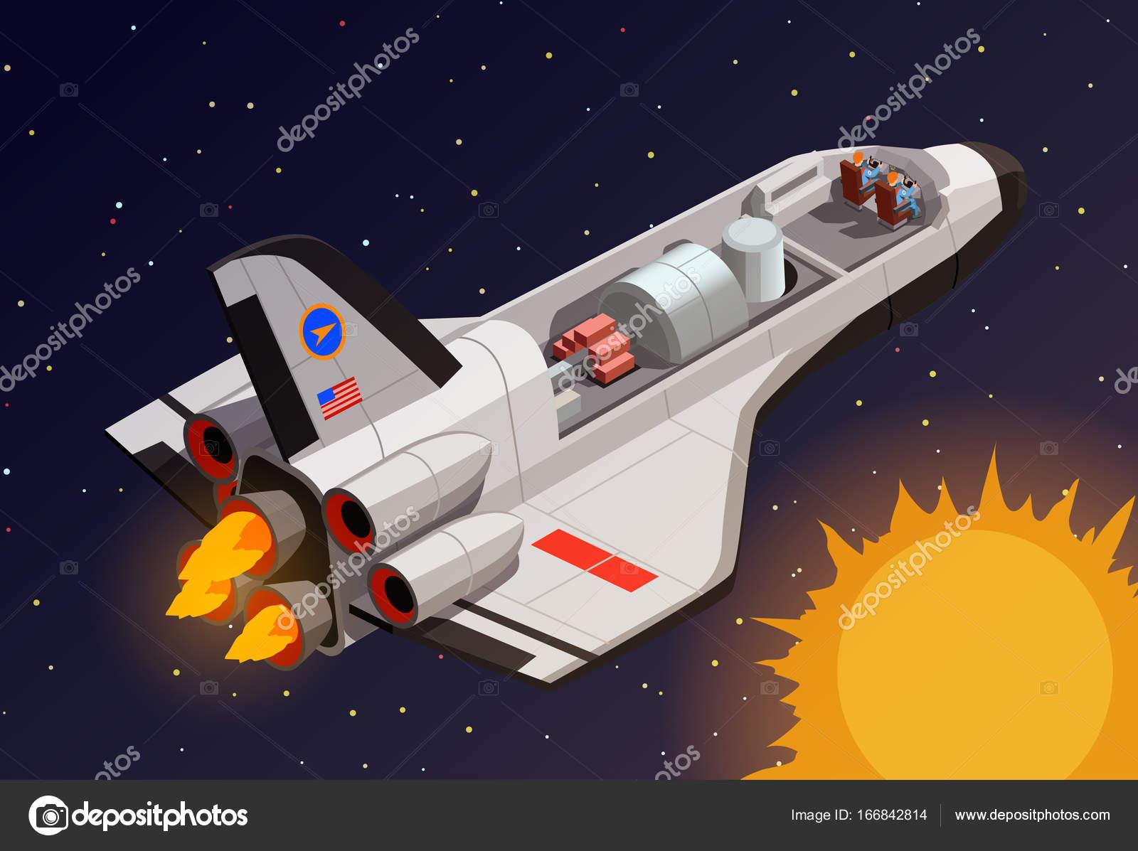 Composición De Espacio Exterior Naves Espaciales