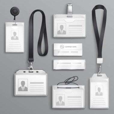 Identification Cards Badges Samples Set