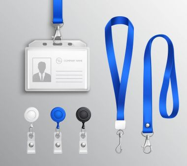 Identification Card Badge Accessories Set