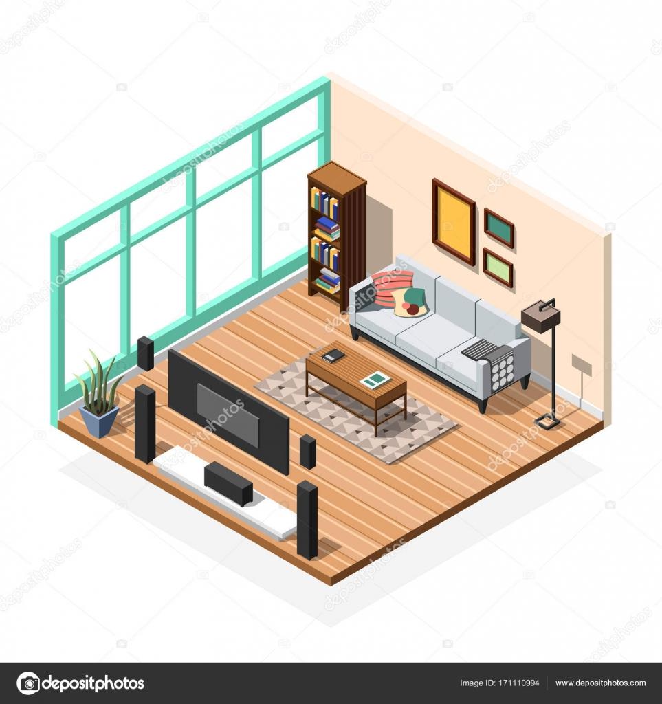 wohnzimmer wohnung innen stockvektor macrovector 171110994. Black Bedroom Furniture Sets. Home Design Ideas