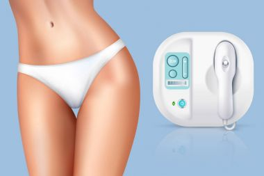 Depilation Laser Hair Removal Woman Composition