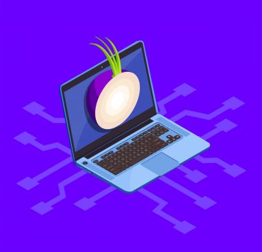 Onion Cyber Security Concept