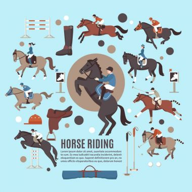 Horse Riding Flat Composition