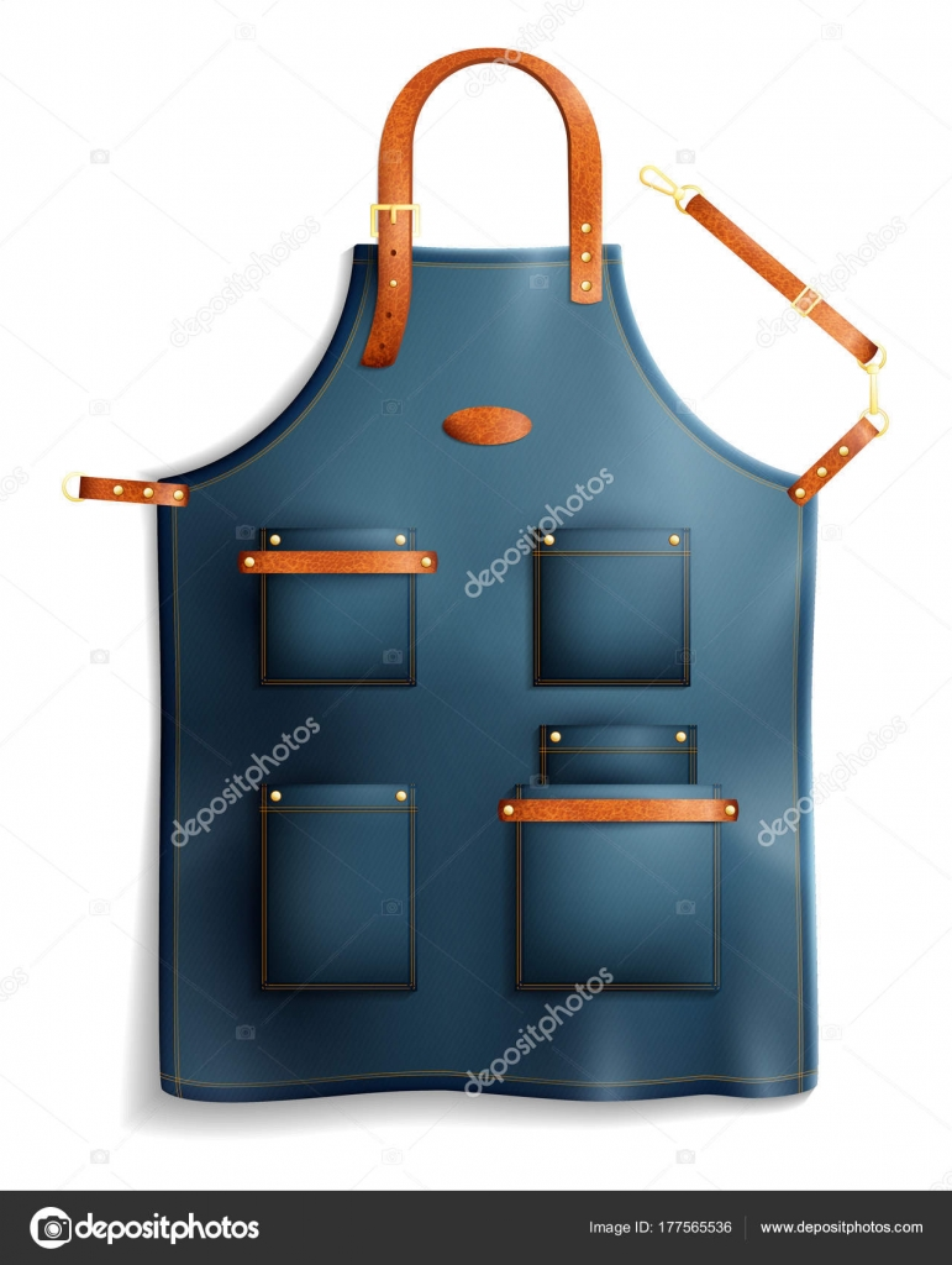 Avental Profissional Realista Vetor De Stock Macrovector 177565536
