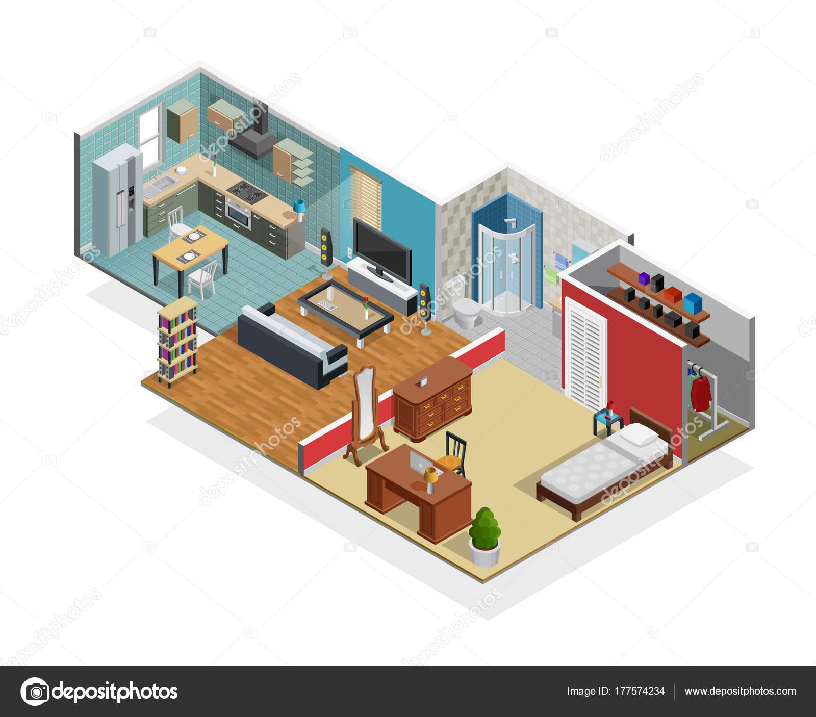 Haus-Innenraum-Konzept — Stockvektor © macrovector #177574234