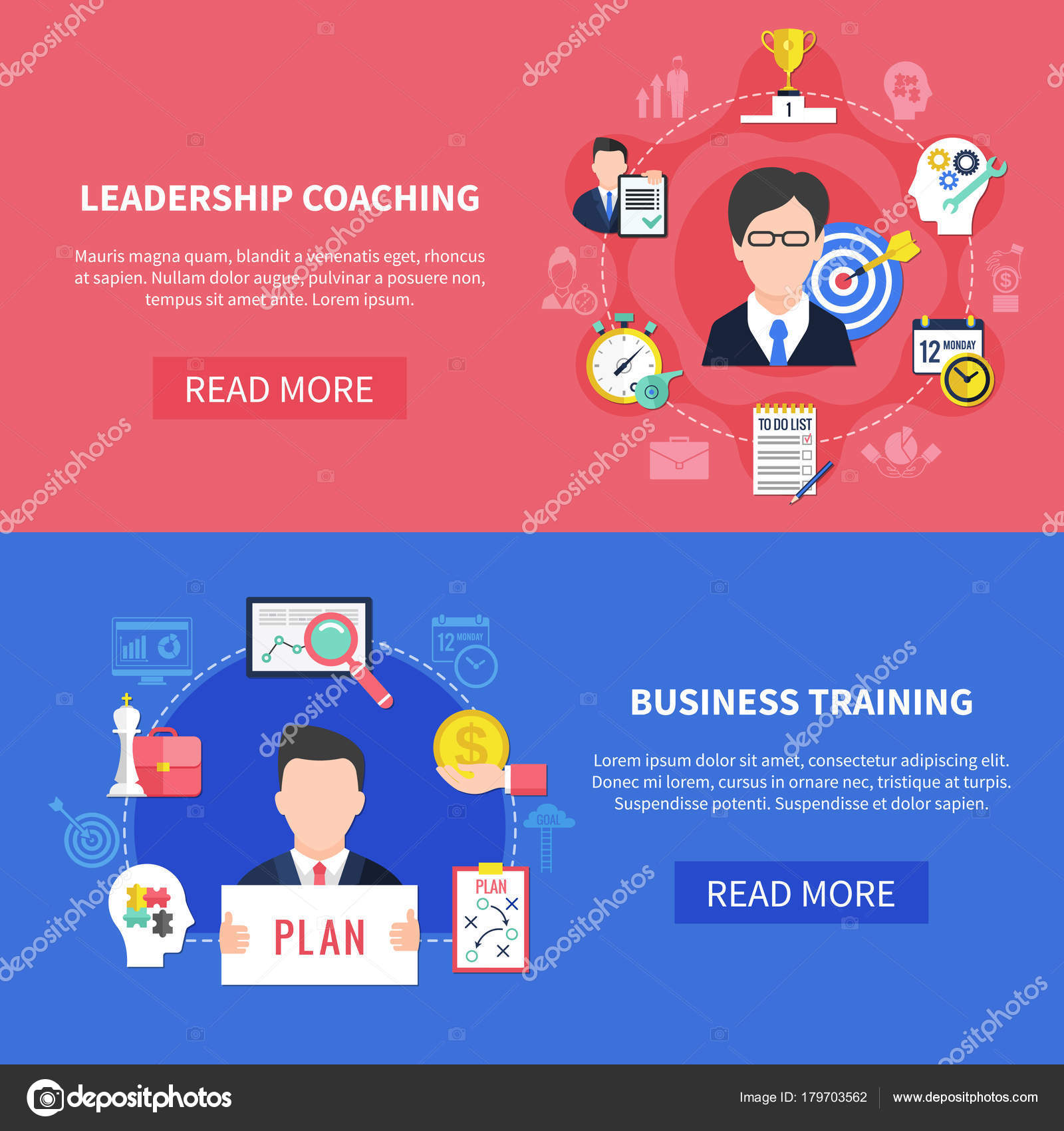 Leadership Training Banners Dice Banners