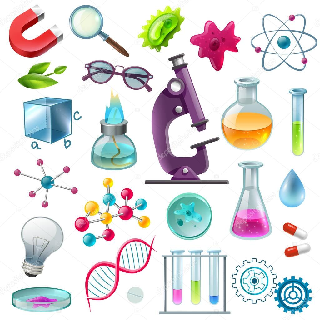 Science Icons Cartoon Set — Stock Vector © macrovector ...